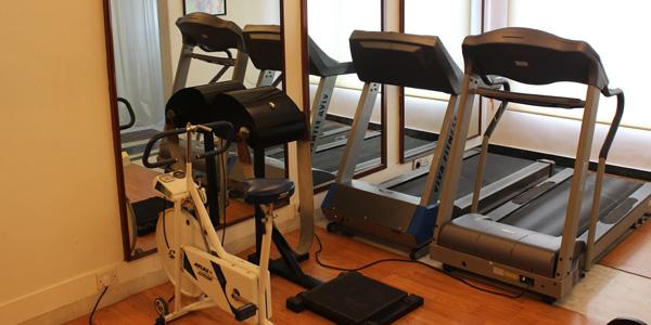 Gym, treadmills